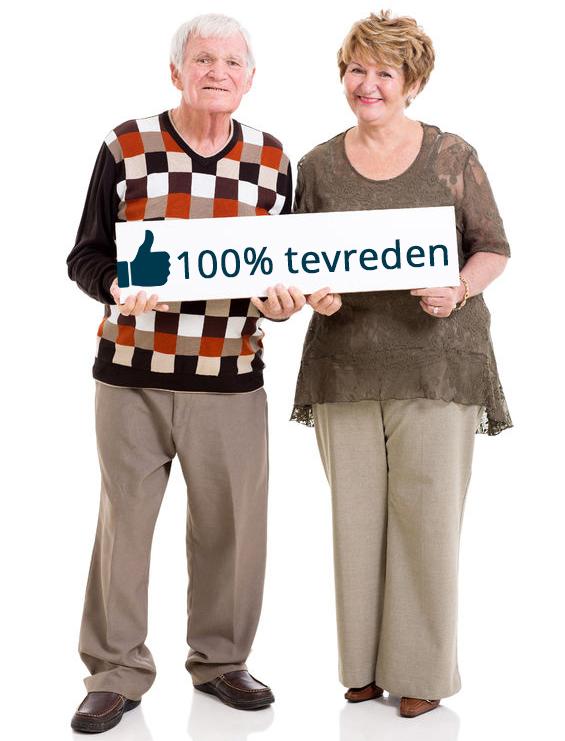 Ouderen met medimpex bord