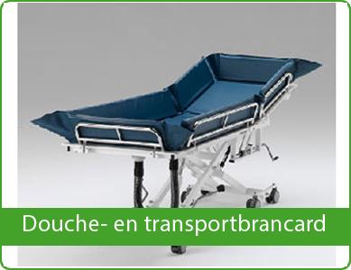 Douche- en transportbrancard